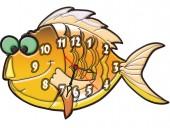 """Часы """"Рыба 4"""""""