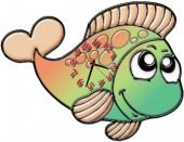 """Часы """"Рыба 6"""""""