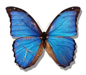 "Часы ""Бабочка синяя"""