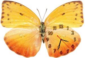 """Часы """"Бабочка яркая"""""""