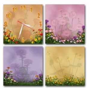 "Часы ""Полевые цветы"""