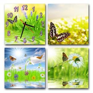 """Часы """"Бабочки на поляне"""""""