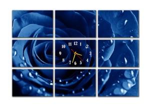 "Часы ""Синяя роза"""