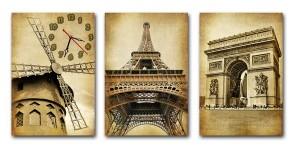 """Часы """"Достопримечательности Парижа"""""""