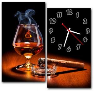 """Часы """"Коньяк с сигарой"""""""