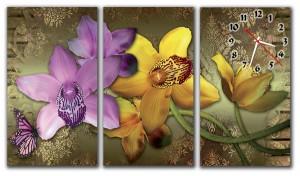 """Часы """"Орхидеи 3"""""""