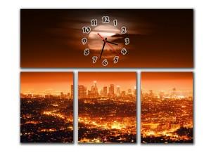"""Часы """"Закат в мегаполисе"""""""