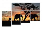 """Часы """"Африканские слоны"""""""