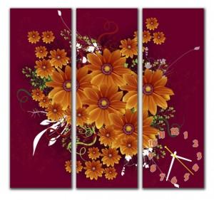 "Часы ""Букет цветов"""