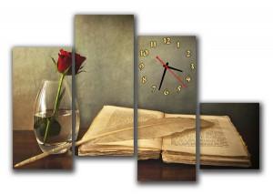 "Часы ""Старинная книга"""