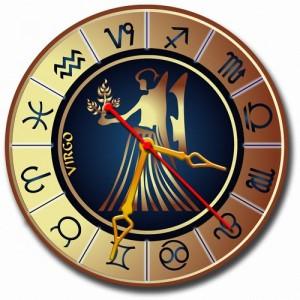 """Часы золотистые """"Дева"""""""
