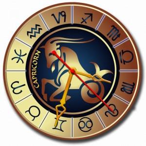 """Часы золотистые """"Козерог"""""""