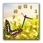 """Часы """"Бабочка с ромашками"""""""