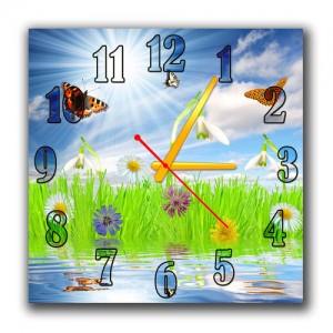 """Часы """"Бабочки над озером"""""""