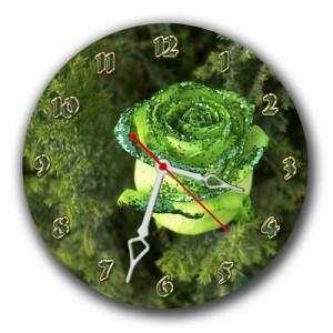 """Часы """"Зеленная роза"""""""