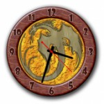 Часы с узором
