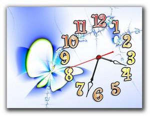 """Часы """"Голубая абстракция"""""""