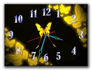 """Часы """"Желтые бабочки"""""""
