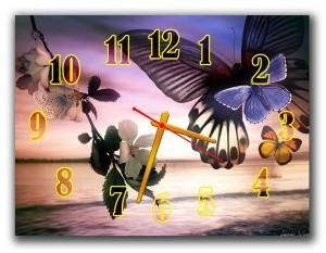 "Часы ""Бабочка над морем"""