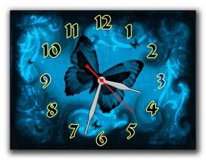 "Часы ""Темно синяя бабочка"""