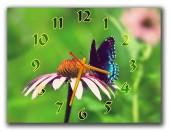 """Часы """"Бабочка на цветке"""""""""""