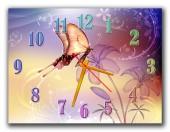 """Часы """"Необычная бабочка"""""""