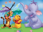 """Часы """"Вини пух и слон"""""""