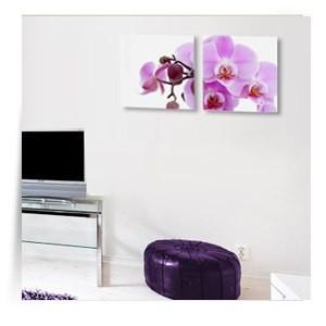 """Картина диптих """"Розовая орхидея"""""""