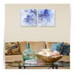 """Картина диптих """"Голубые цветы"""""""