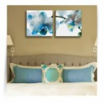 """Картина диптих """"Голубая орхидея"""""""