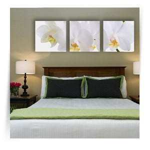 "Картина триптих ""Белые орхидеи 1"""