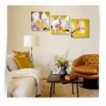 "Картина триптих ""Белые орхидеи 3"""