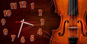 """Часы """"Скрипка"""""""