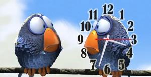 """Часы """"Два горобца"""""""