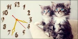 """Часы """"Два кота"""""""