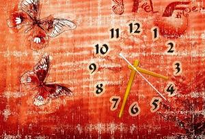 """Часы """"Красные бабочки"""""""