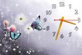 """Часы """"Сказанные бабочки"""""""