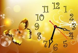 """Часы """"Желтая бабочка"""""""