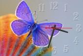 """Часы """"Фиолетовая бабочка"""""""