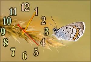 """Часы Белая бабочка"""""""