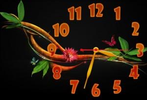 Часы с веточкой