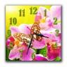 """Часы """"Орхидея с бабочкой"""""""